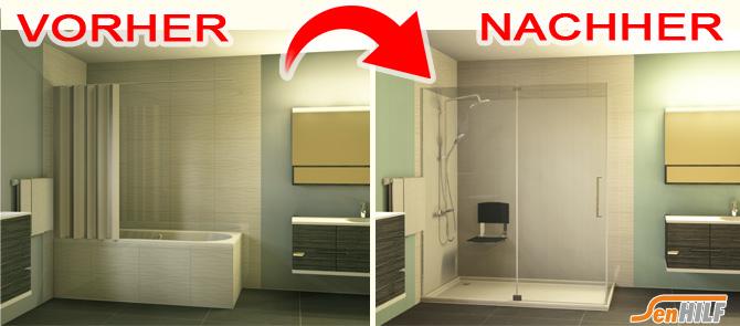 umbau von badewanne zu duschtasse kirchsteiger badtechnik. Black Bedroom Furniture Sets. Home Design Ideas